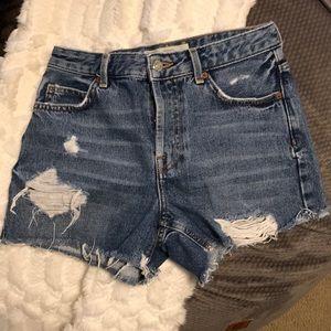 Topshop moto Ashley Jean shorts